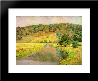 Gordon Hill: Modern Black Framed Art Print by T. C. Steele