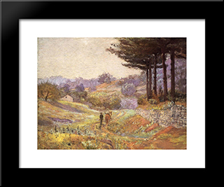 Hills Of Vernon: Modern Black Framed Art Print by T. C. Steele
