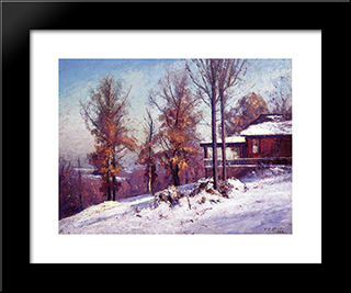 House Of The Singing Winds: Modern Black Framed Art Print by T. C. Steele