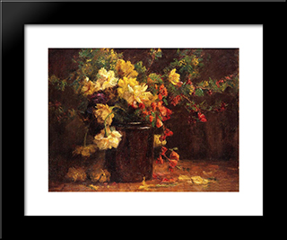 June Glory: Modern Black Framed Art Print by T. C. Steele