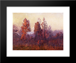 Last Hour Of The Day: Modern Black Framed Art Print by T. C. Steele