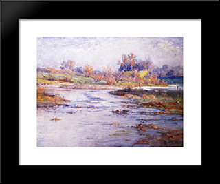 Mysterious: Modern Black Framed Art Print by T. C. Steele
