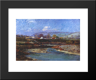 November Morning: Modern Black Framed Art Print by T. C. Steele
