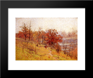November'S Harmony: Modern Black Framed Art Print by T. C. Steele