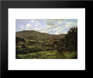 Okemo Mountain, Ludlow, Vermont: Modern Black Framed Art Print by T. C. Steele