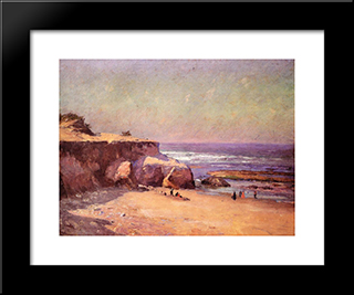 On The Oregon Coast: Modern Black Framed Art Print by T. C. Steele