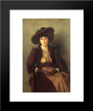 Portrait Of Daisy: Modern Black Framed Art Print by T. C. Steele