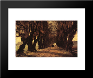 Road To Schleissheim: Modern Black Framed Art Print by T. C. Steele