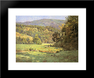 Roan Mountain: Modern Black Framed Art Print by T. C. Steele