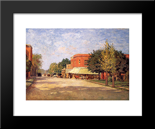 Street Scene: Modern Black Framed Art Print by T. C. Steele