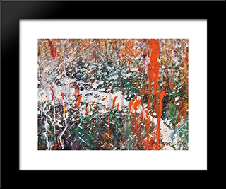 Abstract Composition: Modern Black Framed Art Print by Taro Yamamoto