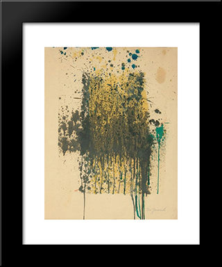 Untitled (Abstract): Modern Black Framed Art Print by Taro Yamamoto