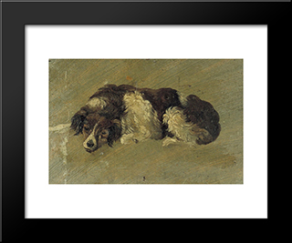 A Dog: Modern Black Framed Art Print by Theo van Doesburg