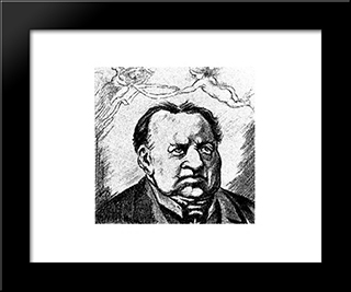 Abraham Kuyper: Modern Black Framed Art Print by Theo van Doesburg
