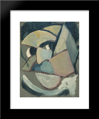 Abstract Portrait: Modern Black Framed Art Print by Theo van Doesburg