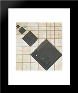 Arithmetic Composition: Modern Black Framed Art Print by Theo van Doesburg