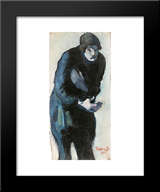 Beggar: Modern Black Framed Art Print by Theo van Doesburg