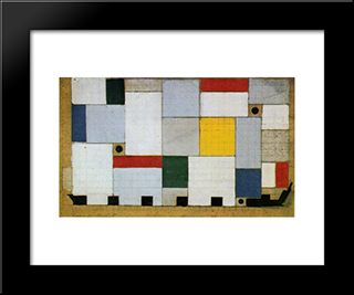 Color Design For The Ceiling Of The Cafe Brasserie: Modern Black Framed Art Print by Theo van Doesburg