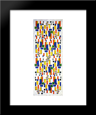 Colour Design For A Chimney: Modern Black Framed Art Print by Theo van Doesburg