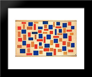 Composition: Modern Black Framed Art Print by Theo van Doesburg