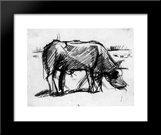 Composition (The Cow): Modern Black Framed Art Print by Theo van Doesburg