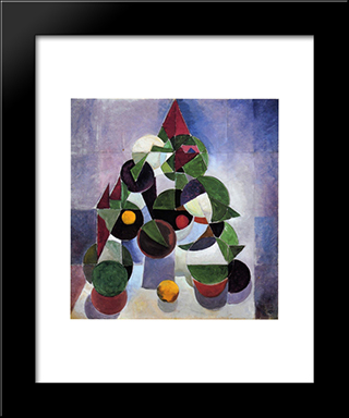 Composition I (Still Life): Modern Black Framed Art Print by Theo van Doesburg
