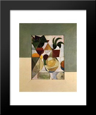 Composition Iii (Still Life): Modern Black Framed Art Print by Theo van Doesburg