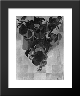 Composition Iv (Still Life): Modern Black Framed Art Print by Theo van Doesburg