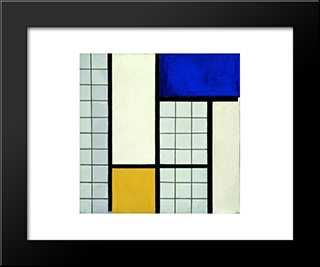 Composition With Half Values: Modern Black Framed Art Print by Theo van Doesburg