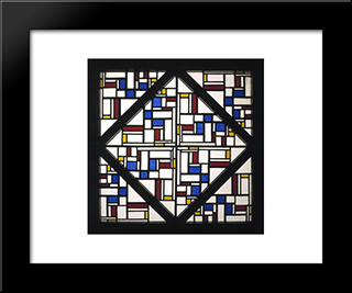 Composition With Window With Coloured Glass Iii: Modern Black Framed Art Print by Theo van Doesburg