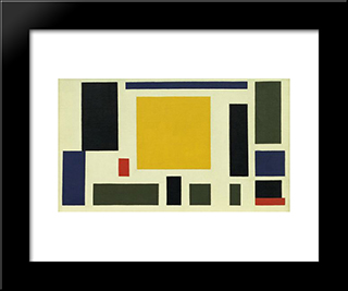 Composition Xiii: Modern Black Framed Art Print by Theo van Doesburg