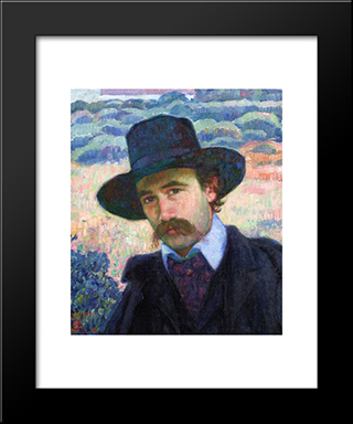 Andre Gide At Jersey: Modern Black Framed Art Print by Theo van Rysselberghe