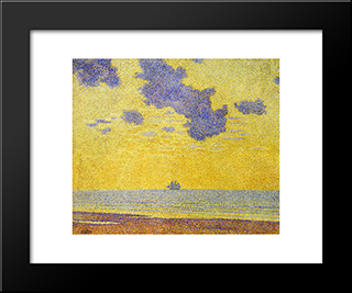 Big Clouds: Modern Black Framed Art Print by Theo van Rysselberghe