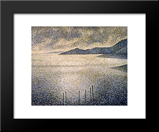 Channel Coast: Modern Black Framed Art Print by Theo van Rysselberghe