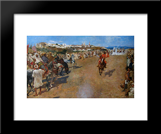 Fantasia Arabe: Modern Black Framed Art Print by Theo van Rysselberghe