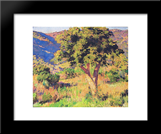 Funds Of St. Clair: Modern Black Framed Art Print by Theo van Rysselberghe