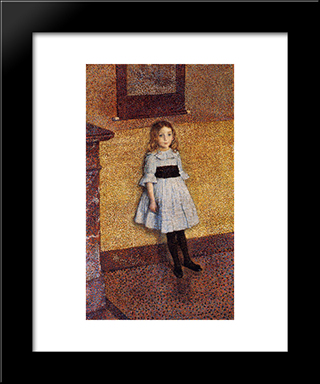 Little Denise: Modern Black Framed Art Print by Theo van Rysselberghe