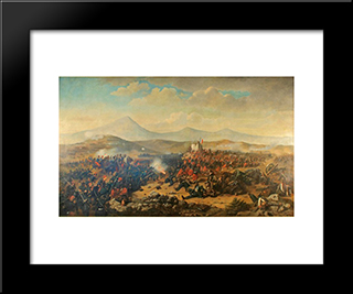 Battle Of Alma: Modern Black Framed Art Print by Theodor Aman