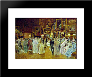 Costume Party In The Workshop: Modern Black Framed Art Print by Theodor Aman