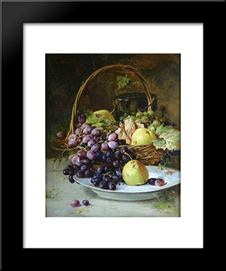 Fruit Basket: Modern Black Framed Art Print by Theodor Aman