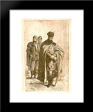Michael The Brave: Modern Black Framed Art Print by Theodor Aman