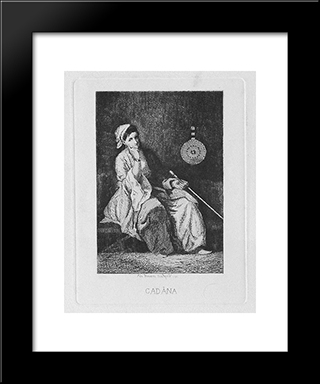 Odalisque: Modern Black Framed Art Print by Theodor Aman