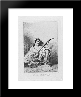 Oriental Music: Modern Black Framed Art Print by Theodor Aman