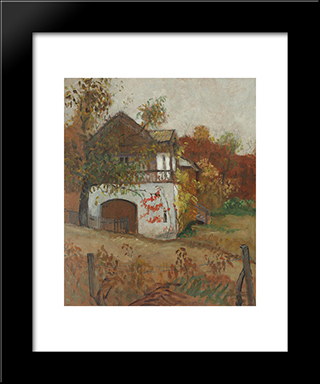 House From Oltenia: Modern Black Framed Art Print by Theodor Pallady