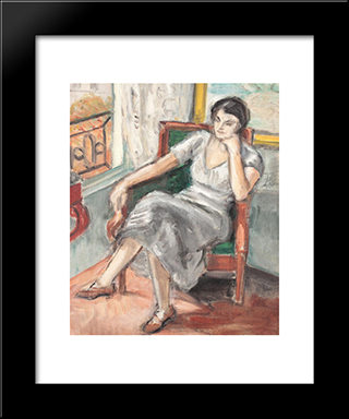 Interior Din Atelierul Din Place Dauphine: Modern Black Framed Art Print by Theodor Pallady