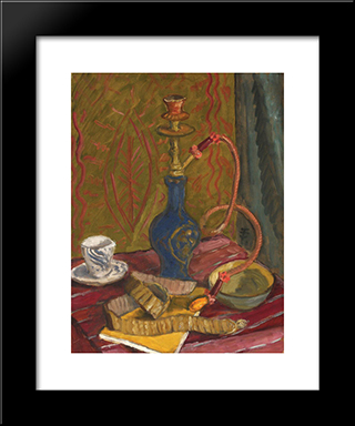 Still Life With Hubble - Bubble: Modern Black Framed Art Print by Theodor Pallady