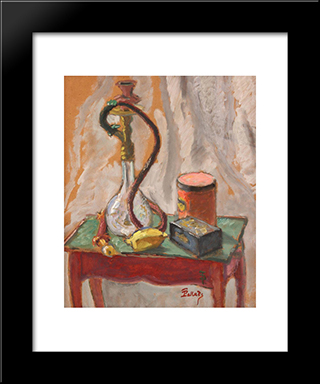 Still Life With Hubble - Bubble And Boxes: Modern Black Framed Art Print by Theodor Pallady