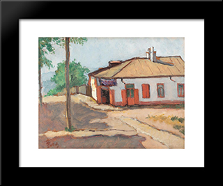 Towards The Buffet: Modern Black Framed Art Print by Theodor Pallady