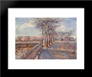 An Avenue In Kastrup: Modern Black Framed Art Print by Theodor Philipsen