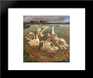 Gs: Custom Black Wood Framed Art Print by Theodor Philipsen